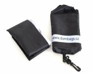 DOMIbags skládací taška látková s pouzdrem černá
