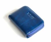 Bright Dámská peněženka na drobné kožená malá modrá