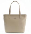 Bright Dámská elegantní kožená kabelka A4 hladká béžová