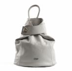 Bright Batoh dámský elegantní kožený A5 přetáčené zapínání šedý