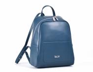 Bright Dámský elegantní kožený batoh větší A5 petrolejový