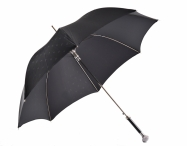 Pasotti Luxusní dámský deštník holový hůl s kamínky vystřelovací černý