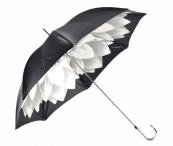 """Pasotti Luxusní dámský deštník hůl """"Květ"""" a kamínky mech. šedý"""