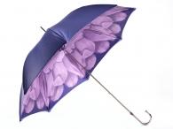 """Pasotti Luxusní dámský deštník holový """"Květ"""" a kamínky fialový"""