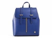 Bright Batoh dámský elegantní kožený s přezkami a kapsou modrý