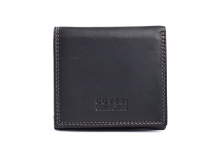 Coveri Dámská peněženka kožená malá na peníze a karty černá