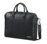 """SAMSONITE Taška na notebook kožená 14,1"""" Equinox A4 na zip black"""