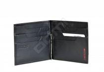 SAMSONITE Peněženka se sponou kožená PRO-DLX bez mincí černá