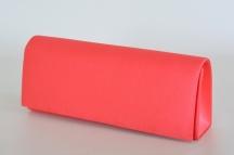 Klasická společenská kabelka (psaníčko) hladká s řetízkem sytě růžová