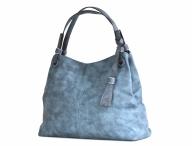 Bright Fashion kabelka přes rameno velká 3 oddělení modrá