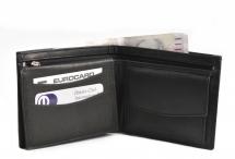 Bright Pánská peněženka kožená bez zapínání černá