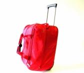 BRIGHT Cestovní taška M na kolečkách střední červená