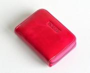 Bright Dámská peněženka na drobné kožená malá růžová