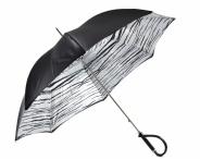 """Pasotti Luxusní dámský deštník holový """"Zebra"""" mechanický černo-bílý"""