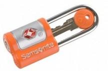 SAMSONITE Set 2 zámků na klíč US air travel key lock oranžové