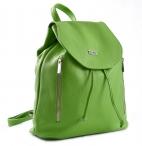 Bright Klasický dámský batoh zdrhovací kožený A4 limetkový