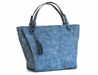 Bright Elegantní kabelka přes rameno velká A4 široká modrá