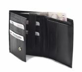 Bright Pánská peněženka kožená na hodně karet na šířku černá