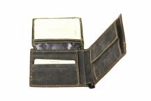 LAURA BIAGIOTTI Pánská peněženka na šířku se vozerm prošitá černá