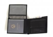 Valentini Pánská peněženka na šířku kožená na velké doklady černá