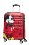 AT Dětský kufr Wavebreaker Disney Spinner 55/20 Cabin Mickey Comics Red