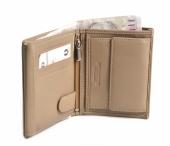 Bright Pánská peněženka kožená zapínací doklady na výšku béžová