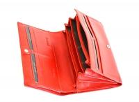 Valentini Dámská peněženka na šířku kožená se zipem na drobné červená