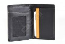 Samsonite pánská peněženka kožená OUTLINE na výšku bez drobných černá