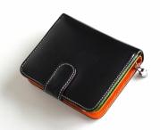Bright Peněženka dámská na výšku kožená vybavená barevná/černá