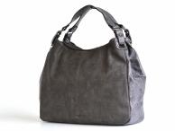Bright Elegantní kabelka přes rameno velká A4 objemná šedá