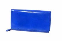 Dámská peněženka kožená na šířku klasická vybavená modrá