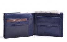 Pánská kožená peněženka na šířku klasická mramorovaná modrá