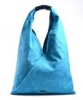 Bright Fashion kabelka - vak velká A4 přes rameno tyrkysová