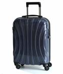 Kufr Bright spinner 65/25/42 střední M třpytivý vlnitý pevný modrý