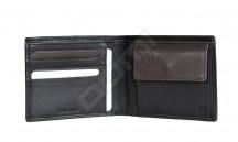 Samsonite pánská peněženka kožená NYX 3 jednoduchá černo-hnědá
