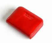 Bright Dámská peněženka na drobné kožená malá červená