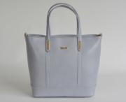 Bright klasická kabelka dámská kožená A4 jemně lesklá šedá