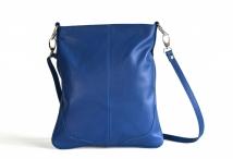 Kabelka - kapsa dámská klasická kožená velká A4 modrá