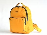 Bright Dámský batoh A5 látkový s výraznými zipy a cvoky žlutý