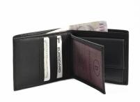 Bright Pánská peněženka kožená vybavená na šířku černá
