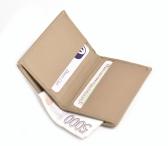 Bright Dokladovka - pouzdro na karty a bankovky kožené béžové