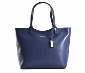 Bright Elegantní kabelka dámská kožená A4 klasická modrá