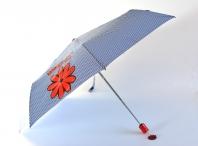 H.DUE.O Deštník dámský skládací vystřelovací kytka modro-bílý