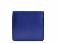 Bright Peněženka/pouzdro na mince kožené čtverec modré