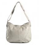 Bright Klasická dámská kabelka/vak měkká velká A4 šedá