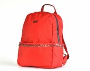 Bright Dámský batoh A5 látkový s křížky a kapsami červený