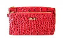 BRIGHT dámská peněženka nebo kabelka kroko-lak červená
