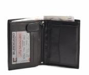 Bright Pánská peněženka kožená na hodně dokladů na výšku černá